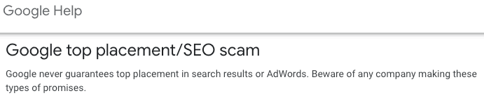 Guaranteed SEO Results